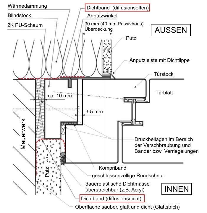 Detail Bauanschlussfuge