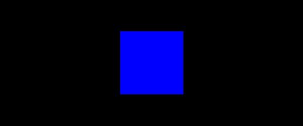 Farbe Blau auf Schwarz