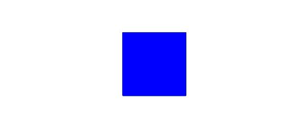 Farbe Blau auf Weiß