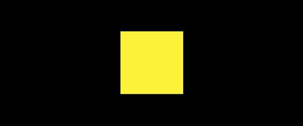 Farbe gelb auf Schwarz