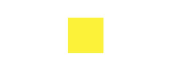 Farbe Gelb auf Weiß