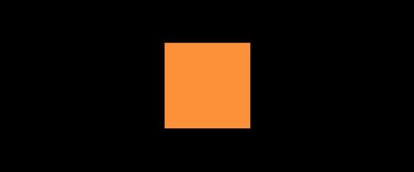 Farbe Orange auf Schwarz