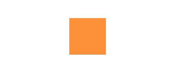 Farbe Orange auf Weiß