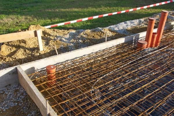Seitliche Schalung Fundamentplatte