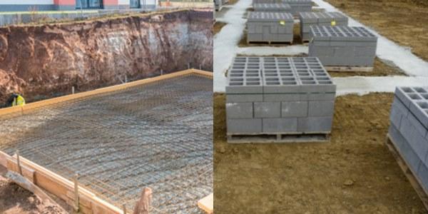 Fundamente und Bodenplatte betonieren