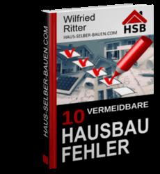 PDF-eBook '10 vermeidbare Hausbau-Fehler'