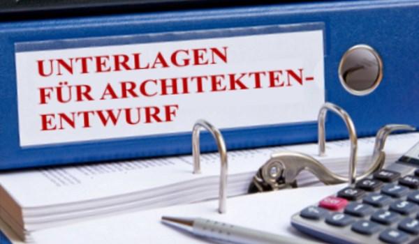 Unterlagen für Entwurfsplan