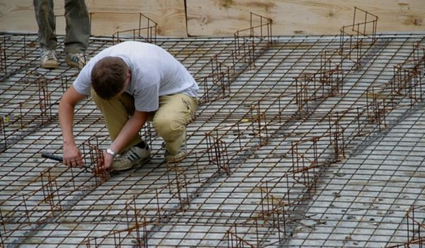 Rohbau herstellen - Bodenplatte