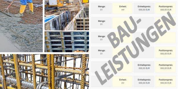 Muster-LV LG 05 Betonarbeiten - Leistungspositionen