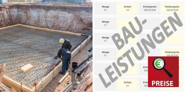 Detailpreise Fundamente und Bodenplatte betonieren