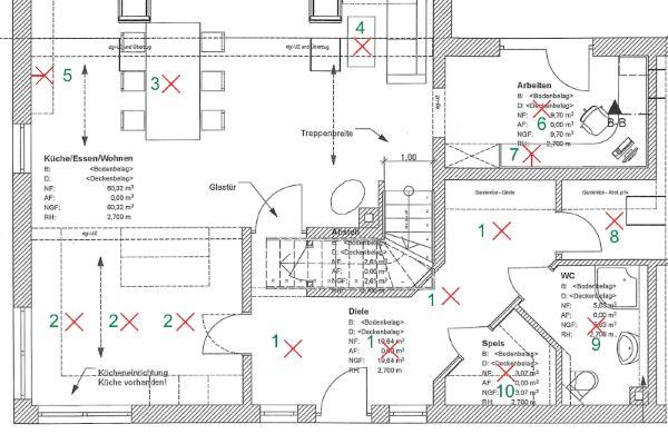elektroplanung schalter dosen leuchten beim hausbau planen. Black Bedroom Furniture Sets. Home Design Ideas