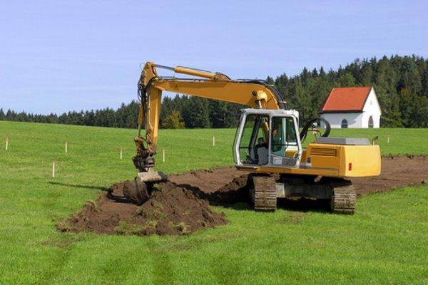 Mutterboden abtragen