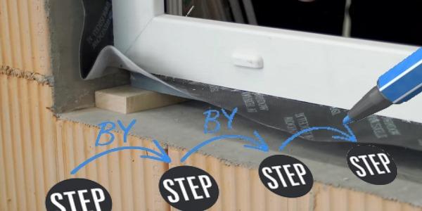 Schritte Fenster-Montage