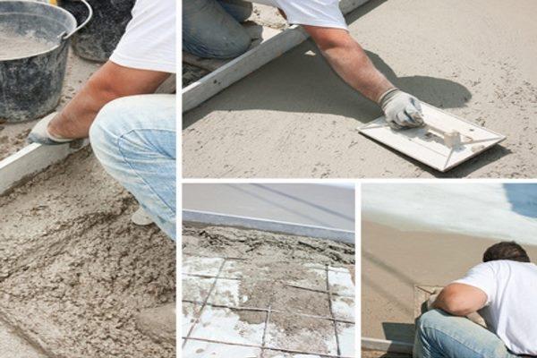 Fußbodenaufbau Estrichherstellung