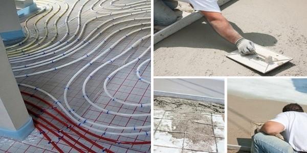 Bauetappe Fussbodenaufbau