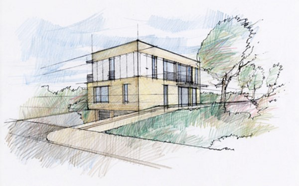 Entwurfsplan von Architekt
