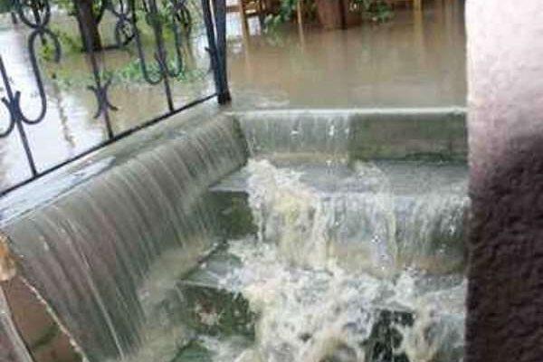 Kellerstiege Hochwasser