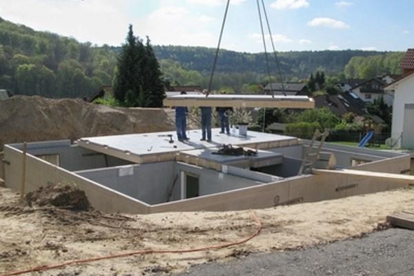 Bauetappe Keller bauen