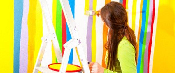 Malerarbeiten - Bunte Wand