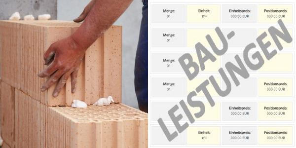 Muster-LV LG 06 Mauer- und Versetzarbeiten - Leistungspositionen