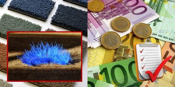Handwerkerpreise für das Verlegen von Teppichböden