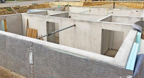 Wände aus Beton